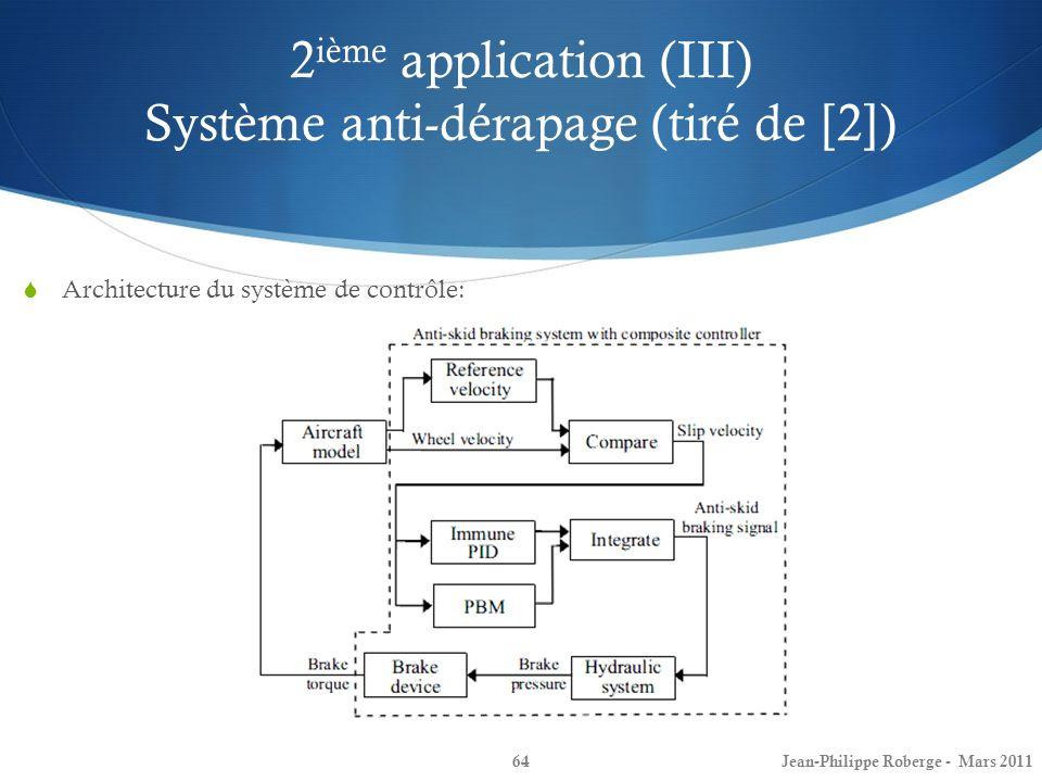 2ième application (III) Système anti-dérapage (tiré de [2])